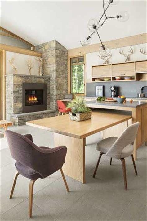 coin repas dans cuisine grand coin repas dans une cuisine moderne en bois clair