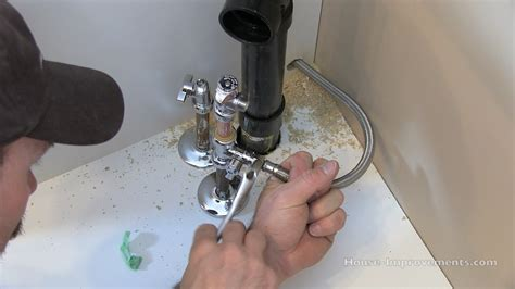 kitchen sink faucet how to install a water line to your fridge pex copper