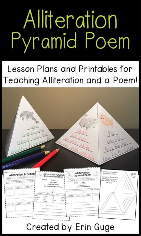 alliteration pyramid poem lesson plans and printables for