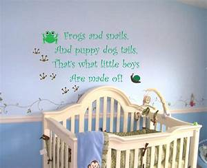 Baby boy nursery saying frogs and snails wall quote decal