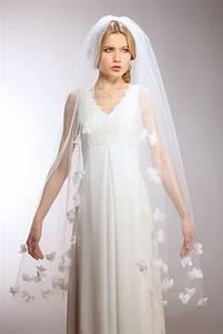Handmade Chiffon Flower Bridal Veil - Waltz or Elbow
