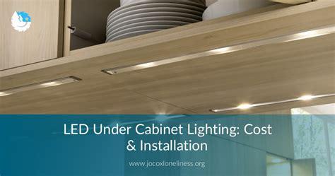 led  cabinet lighting cost installation
