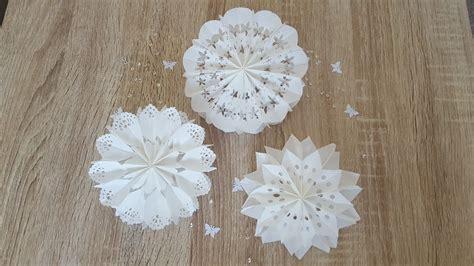 ohne t 252 ten sterne und blumen aus butterbrotpapier basteln diy and flowers