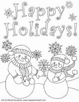 Christmascard Coloring Pages Happy sketch template