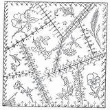 Quilt Crazy Patterns Block Embroidery Pattern Barn Hand Stitches Quilts Blocks Victorian Designs Quilting Coloring County Herbs Trail Schoharie Pages sketch template
