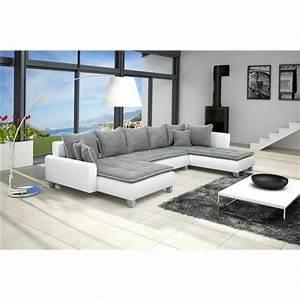 canape d39angle conv u nano gris blanc angle droit achat With tapis enfant avec canapé convertible panoramique