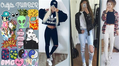 MODA 2017 TUMBLR OUTFITS CASUALES PARA LA ESCUELA UNIVERSIDAD OTOu00d1O INVIERNO - YouTube