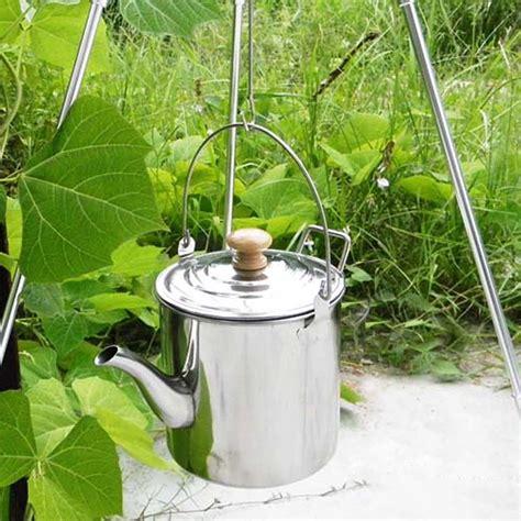 kettle camping pot tea water stainless steel coffee kettles outdoor stove teapot equipment potable 2000ml cookware garden