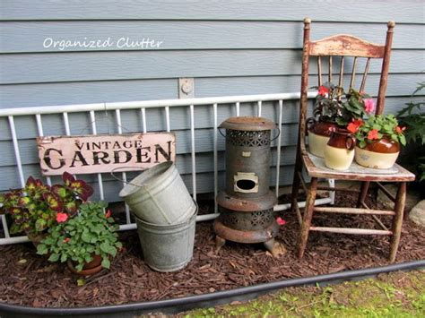 Best + Rustic Garden Decor Ideas On Pinterest