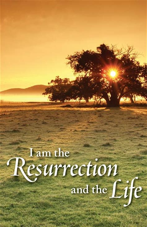 resurrection   life funeral bulletin