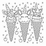 Ice Cream Coloring Everfreecoloring sketch template