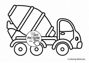truck drawing for kids at getdrawingscom free for With simple mixer