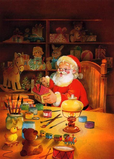 Santa S Workshop Wallpaper Animated - santa in his workshop animated toys santa