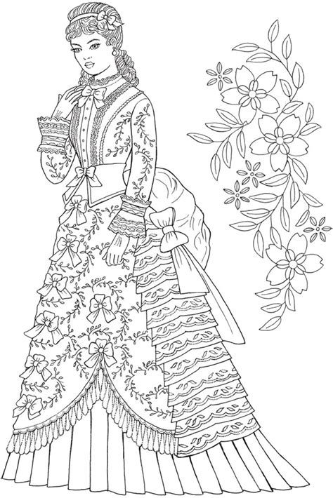 Welcome to Dover Publications - CH Victorian Gowns | Fashion coloring book, Adult coloring