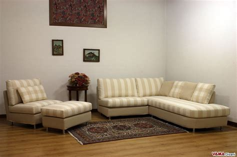 divano angolare piccolo  tessuto realizzabile su misura