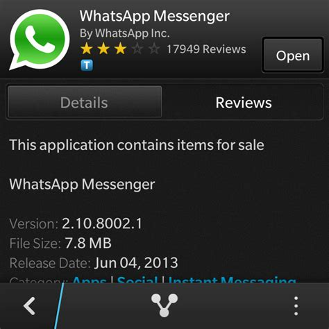whatsapp for blackberry 10 updated to 2 10 8002 1