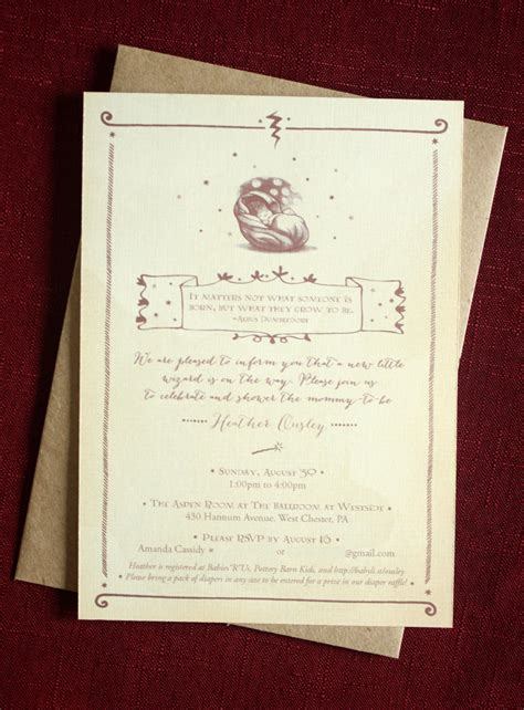 Harry Potter Baby Shower Invitations - kitchen dining
