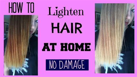 Ways To Lighten Hair Without Damaging It by How To Lighten Hair At Home No Damage Maddie Ryles