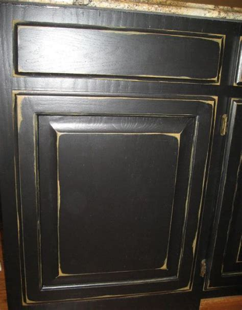 How To Paint And Distress Cabinets by Cabinet Refinishing Kitchen Ideas Black Kitchen
