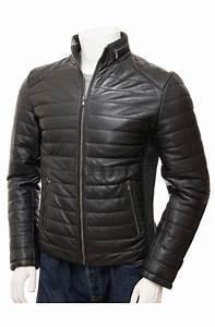 Black Leather Quilted Biker Jacket Movies Jacket