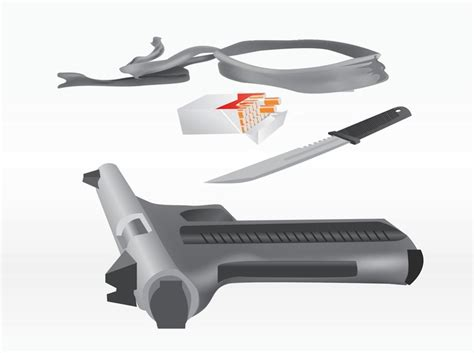 3d Assassin Weapons Vector Vector