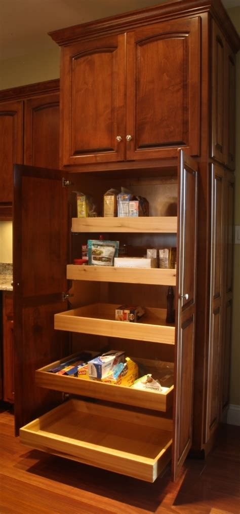 pantry  roll  shelves amish handcrafted