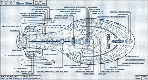 Starship Voyager Deck Plans by Trek Uss Voyager Blueprints