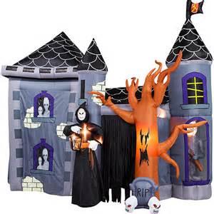 Walmart Halloween Yard Inflatables by Airblown Inflatable Haunted Castle 12 Halloween