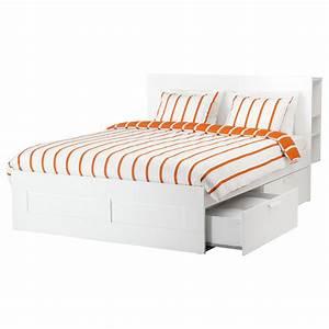 Ikea Tagesbett Brimnes : brimnes bed frame w storage and headboard white lur y standard king ikea ~ Watch28wear.com Haus und Dekorationen