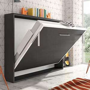 Lit Avec Armoire : armoire lit escamotable horizontale b secret de chambre ~ Teatrodelosmanantiales.com Idées de Décoration