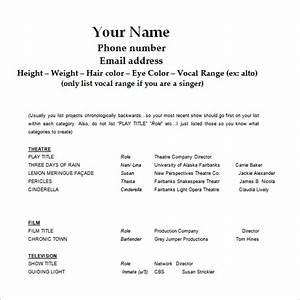 acting resume template 8 free word excel pdf format With free acting resume template