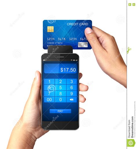 Love my tampa bay lightning discover card. Mobile Payment Concept, Hand Holding Smartphone With ...