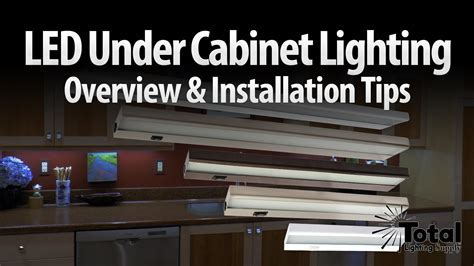 LED under cabinet lighting overview & installation tips by