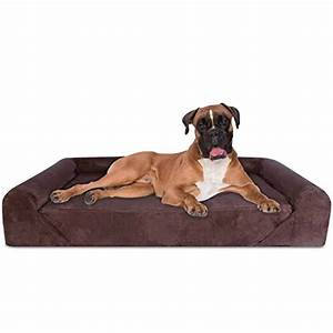 extra large orthopedic bolster dog bed webnuggetzcom With anti tear dog bed