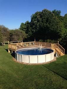 Piscine Bois Ronde : 1001 conceptions cr atives pour une piscine sur lev e ~ Farleysfitness.com Idées de Décoration