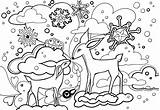 Coloring Winter Pages Forest Printable Colouring Christmas Books Scene Hog Enchanted Finished Animals Printables Animal Rocks Sheets Awesome Quotes Lol sketch template