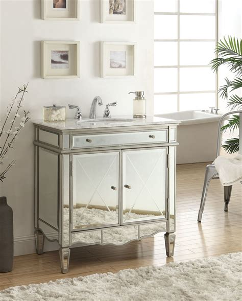 Mirrored Bathroom Vanity Sink by Ashmont 32 Inch Vanity Q744 911