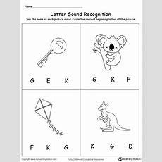 Recognize The Sound Of The Letter K Myteachingstationcom