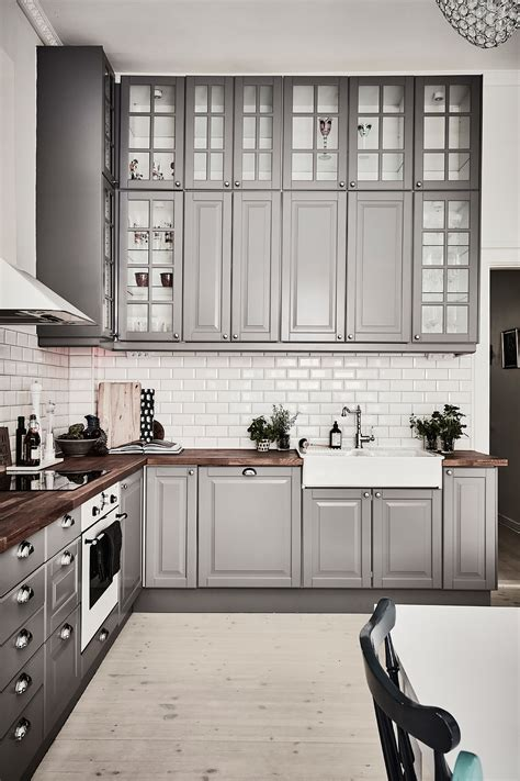 gray kitchen white cabinets inspiring kitchens you won 39 t believe are ikea gray
