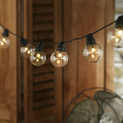 battery operated clear globe bulb led string lights