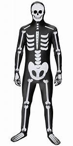 Adult Skeleton Body Suit Fancy Dress Party Costume