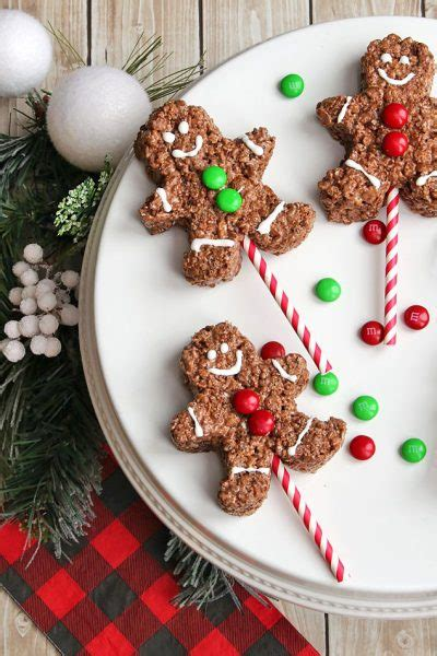 chocolate rice krispie gingerbread men pops clean