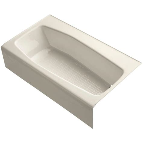 Kohler Villager Bathtub Specs by Kohler Villager 5 Ft Right Drain Soaking Tub In Almond K