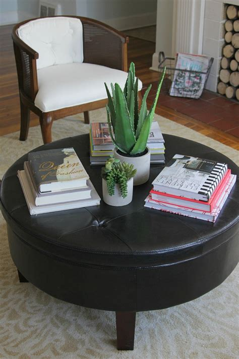In round wooden coffee tables from a lot of round coffee tables section of square coffee console sofa in relation. 50 Best Round Coffee Table Trays   Coffee Table Ideas