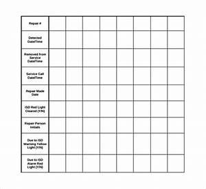 Daily Sheet Calendar 10 Repair Log Templates To Download Sample Templates