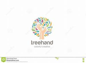 Hands Tree Logo Design Vector. Helping Charity Logo Stock ...