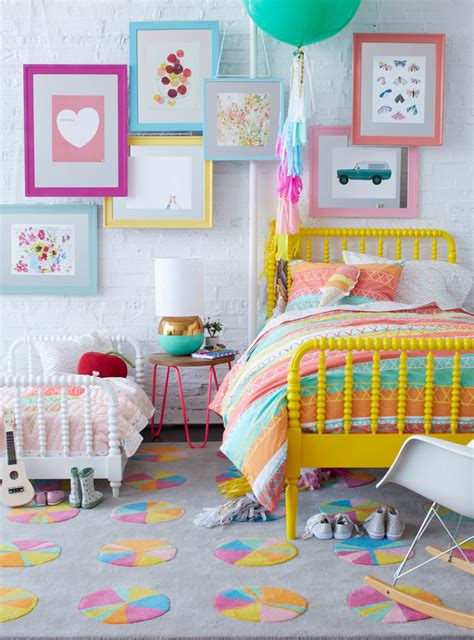 chambre color chambre fille coloree corail jaune picslovin