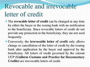 revocable letter of credit 28 images letter of credit With funding against letter of credit