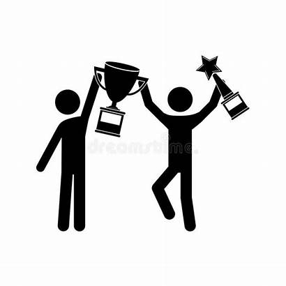 Winner Trophy Avatar Loser Vector Count Clip
