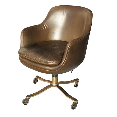 vintage zographos low back chair leather brown ebay